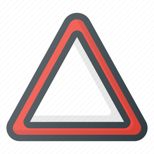 attention, car, danger, equipment, triangle icon