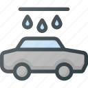 car, carwash, drop, wash, water icon