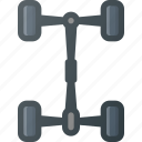 car, chassis, component, frame icon