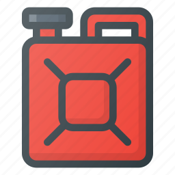accessories, can, car, fuel, gas icon