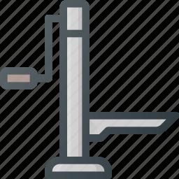 accessories, auto, car, lifter icon
