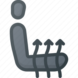 accessories, car, dashboard, engine, heating, seat icon