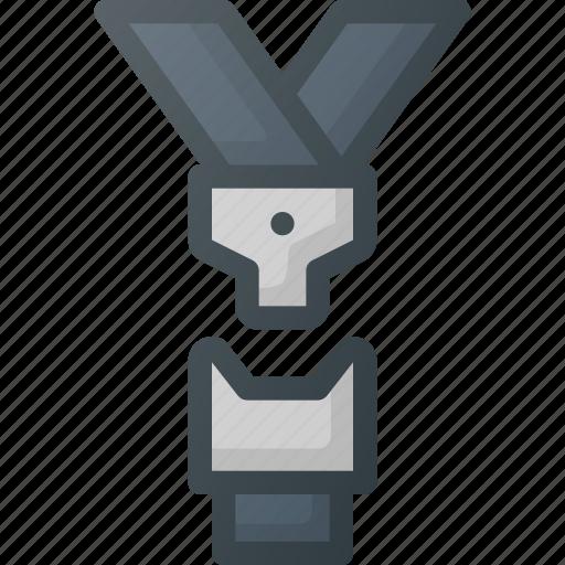 accessories, belt, cat, safety, seatbelt icon