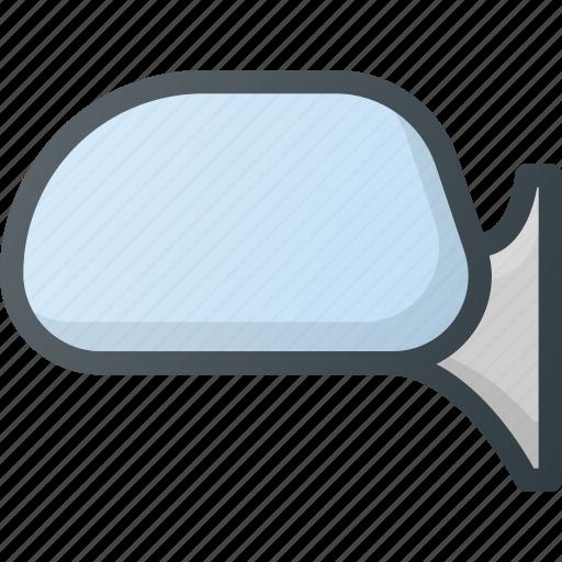 car, component, mirror, side icon
