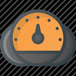car, dashboard, speed icon