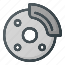 break, car, component, dashboard, disk, tire icon