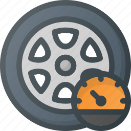 car, pressure, pump, tire, wheel icon