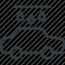 car, carwash, drop, wash, water icon