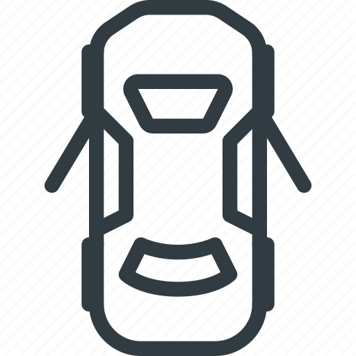 car, dashboard, doors, open icon