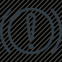 allert, car, component, dashboard, handbrake, warning icon