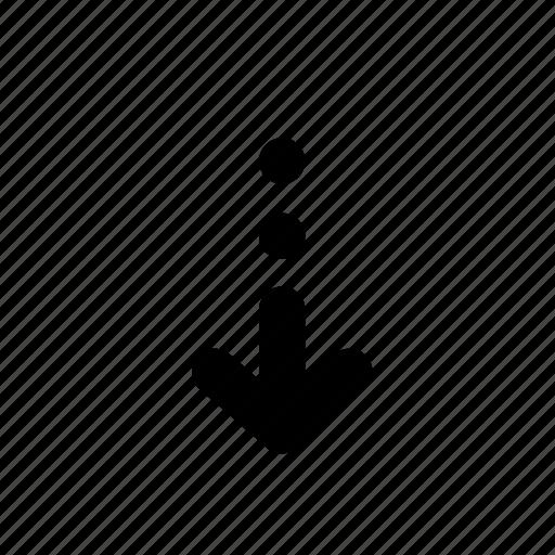 arrow, backward, behind, bottom, circle, down, journey icon