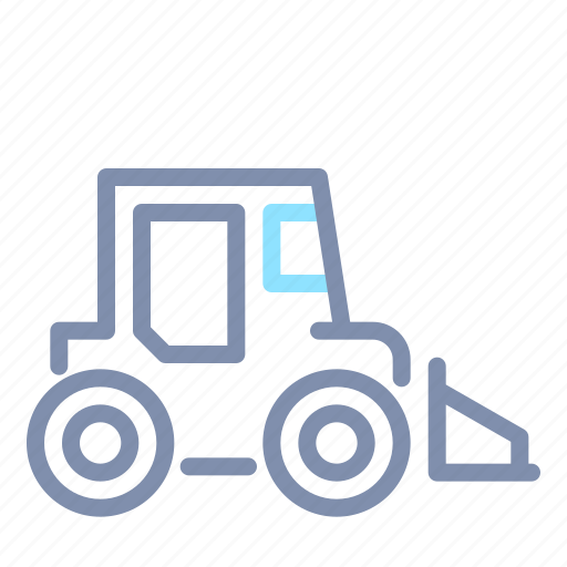Backhoe, excavator, heavy, tractor, transportation, vehicle icon - Download on Iconfinder