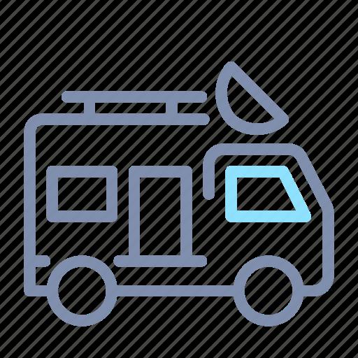 Car, journalit, news, road, transportation, van, vehicle icon - Download on Iconfinder