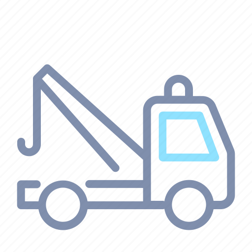 car, road, tow, towing, transportation, truck, vehicle icon