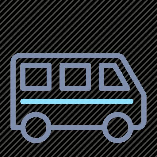 bus, car, road, transport, transportation, van, vehicle icon