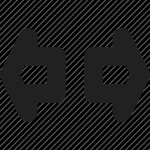 blinker, left, right, signal icon