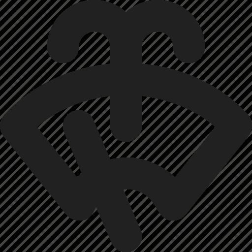 windshield, wipe icon
