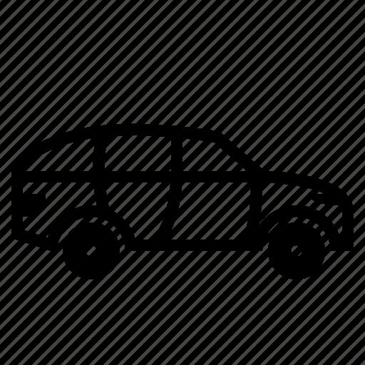 car, drive, four door car, hatchback, hatchback car, sedan, transport icon