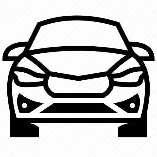automobile, car, car front, car front view, transport, vehicle icon