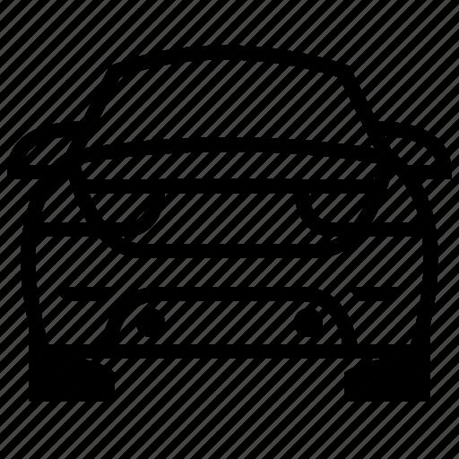 automobile, car, car rear, car rear view, transport, vehicle icon