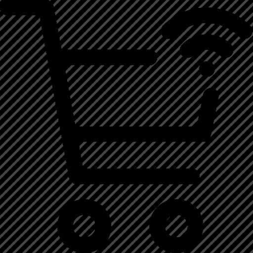 buy, network, online, shopping, trolly, wifi icon