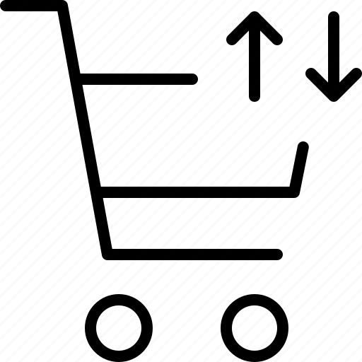 buy, elevator, movement, shopping, trolly, vertical icon
