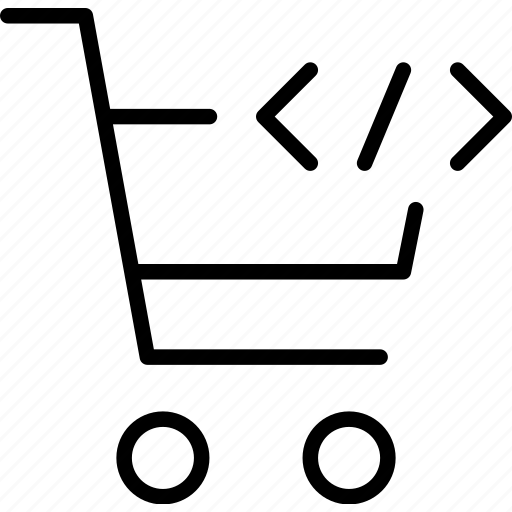 buy, code, markup, online, shopping, trolly icon