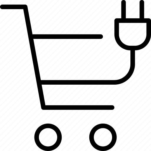 buy, chargable, electric, outlet, shopping, trolly icon