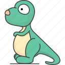 cartoon animal, cartoon animals, cartoon mammal, dinosaur, mammal, wild, zoo icon