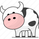 animal, animals, cow, milk icon