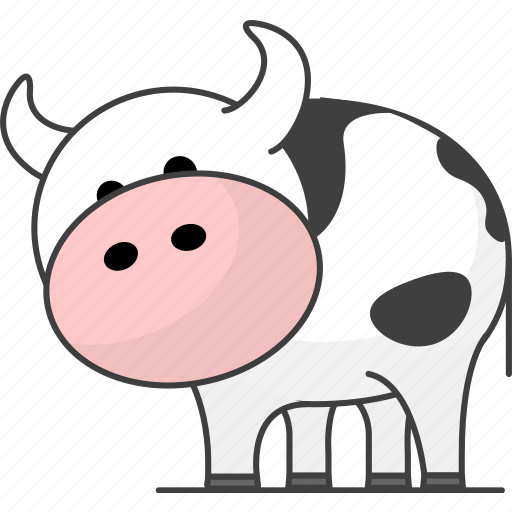 cartoon animal, cartoon animals, cartoon cow, cow, cute cartoon, milk, zoo icon