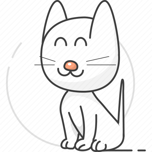 cartoon animal, cartoon animals, cartoon cat, cat, cute, cute cat, pet, zoo icon
