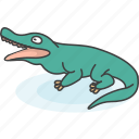 cartoon, cartoon animal, cartoon animals, crocodile, mammal, wild, zoo icon