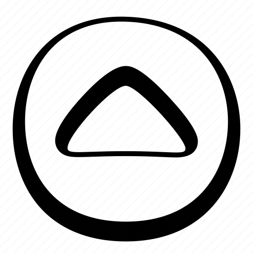 arrow, cartoon, circle, toon, ui, up icon