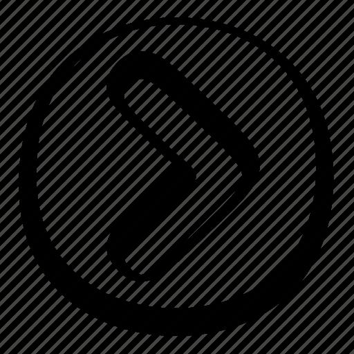 arrow, cartoon, circle, right, toon, ui icon