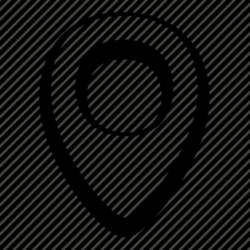 cartoon, location, map marker, pin, toon, ui icon