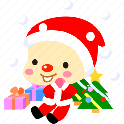 cartoon, character, christmas, cold, fireboy, present, snow icon