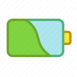 battery, charging, electricity, middle, smartphone icon