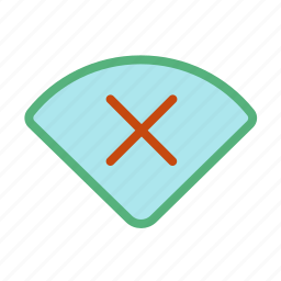 connection, disabled, internet, network, wifi, wireless icon