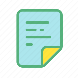 article, file, notes, paper, text icon