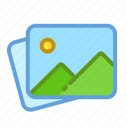 gallery, landscape, photos, pictures, stack icon