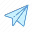 inbox, mail, paper, plane, send icon