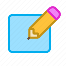edit, editing, field, note, pencil, text icon
