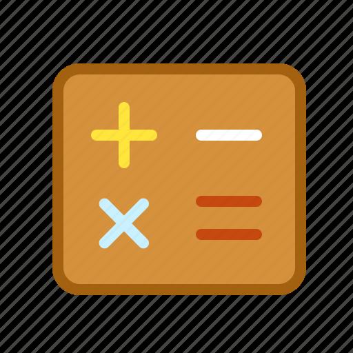calculator, divide, mathematic, plus, sum icon