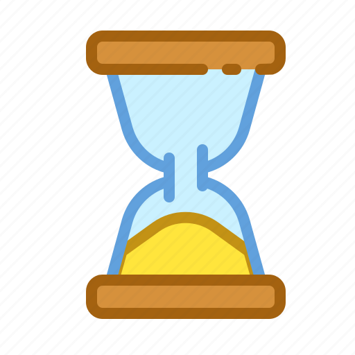 clock, glass, sand, time, timer icon