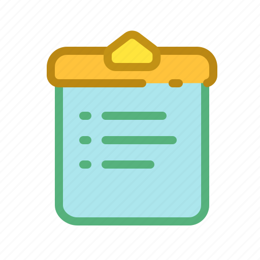 list, paper, schedule, tablet icon