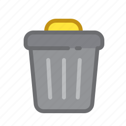 bin, can, delete, files, trash icon