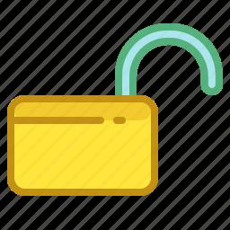 define, enabled, lock, padlock, unlocked icon