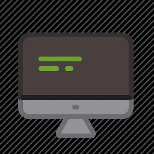 code, computer, desktop, hardware, screen, string icon