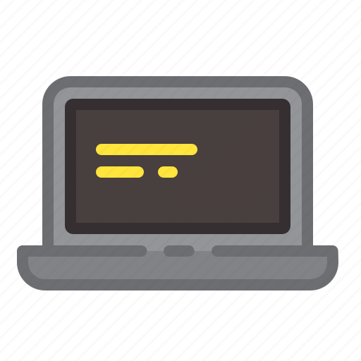 code, computer, hardware, laptop, screen, string icon